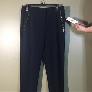BNWT Designer Tahari Navy Blue Dress Pants